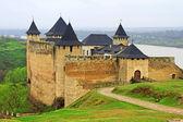 View of Khotyn fortress, Western Ukraine (XIII century)