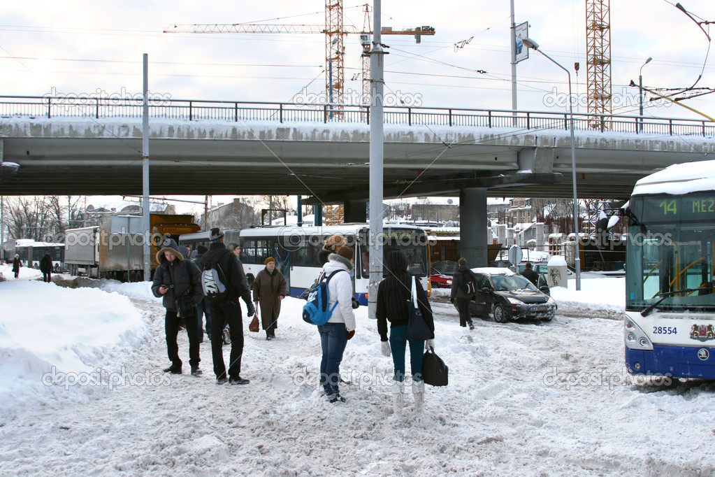 Traffic accident with trolleybus