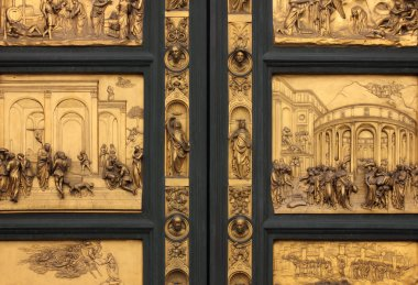 Doors of Paradise detail of The Florence Baptistry