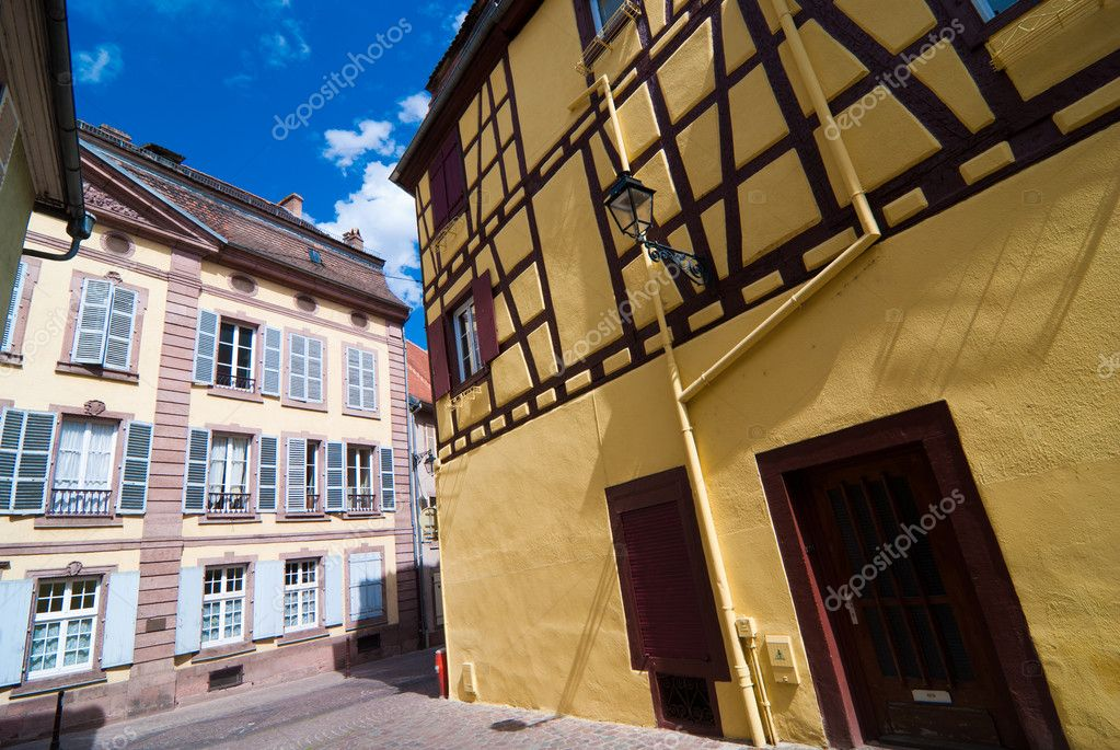 rue de la vieille ville de colmar france photographie. Black Bedroom Furniture Sets. Home Design Ideas