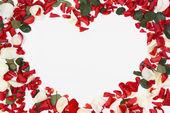 Fotografie Herzen der Blütenblätter