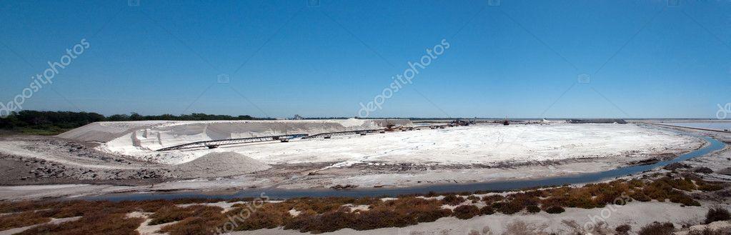 Panoramic view of Saltworks, Saline - Camargue