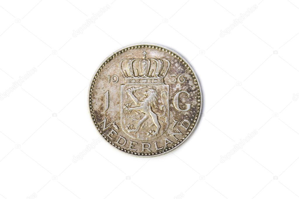 Niederlande 1956 Juliana Die Silberne Gulden Münz Rückseite