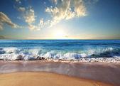 Fotografie moře při západu slunce