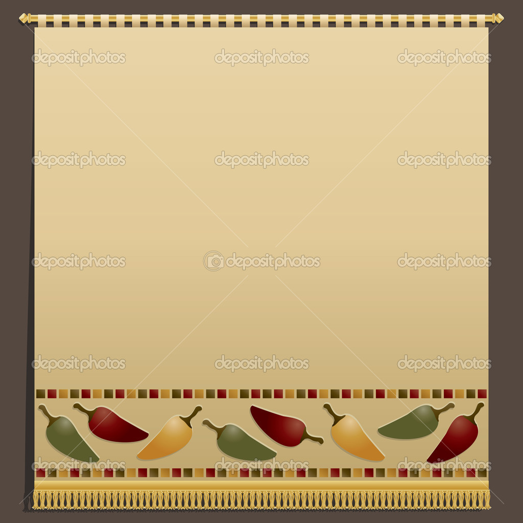 Chili pepper wall hanging — Stock Vector © mattasbestos #10053744