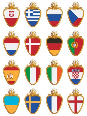 Football flag shields