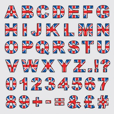 Great britain alphabet