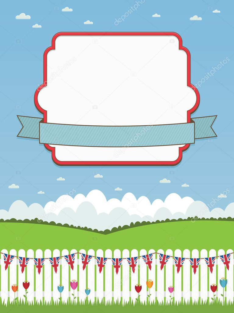 Uk picket fence with frame