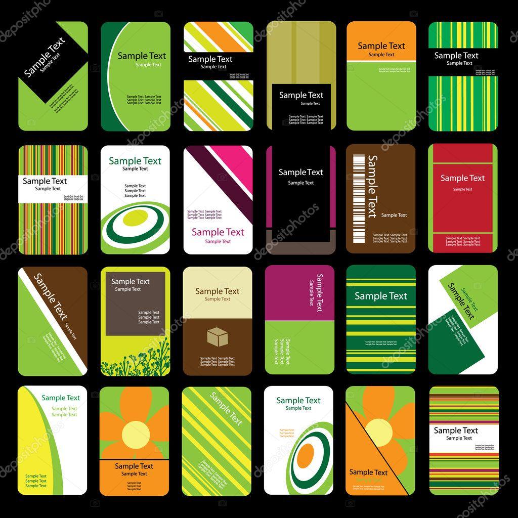 24 Colorful Business Cards — Stock Vector © bagotaj #8020207