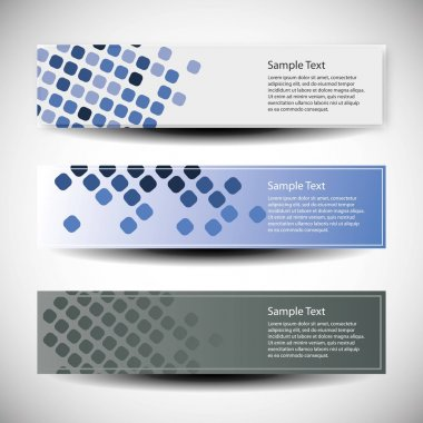 Vector set of three banner designs
