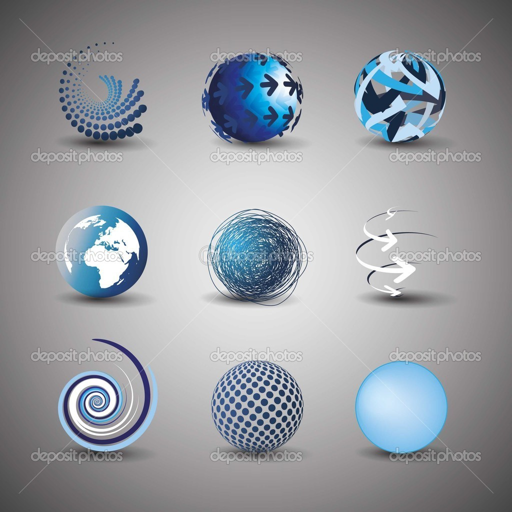 sammlung von globus designs stockvektor bagotaj 8038758. Black Bedroom Furniture Sets. Home Design Ideas