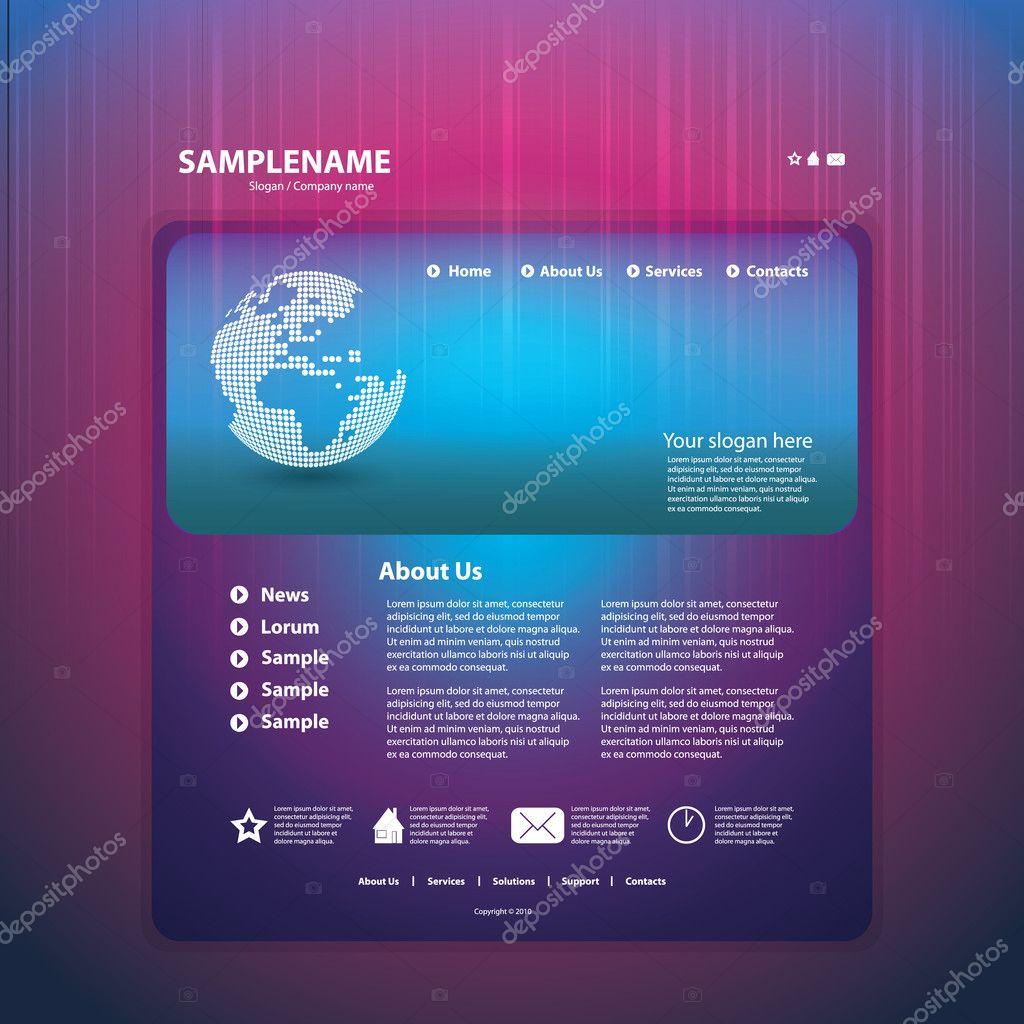 Atemberaubend Blaue Website Vorlage Bilder ...