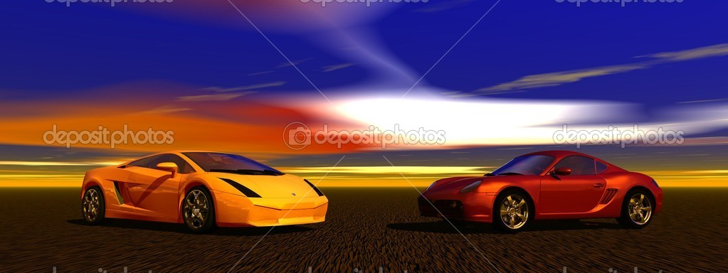 Cars and landscape
