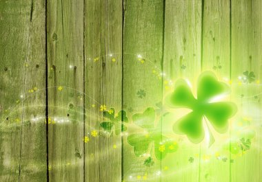 St. Patricks day background. Clover background.