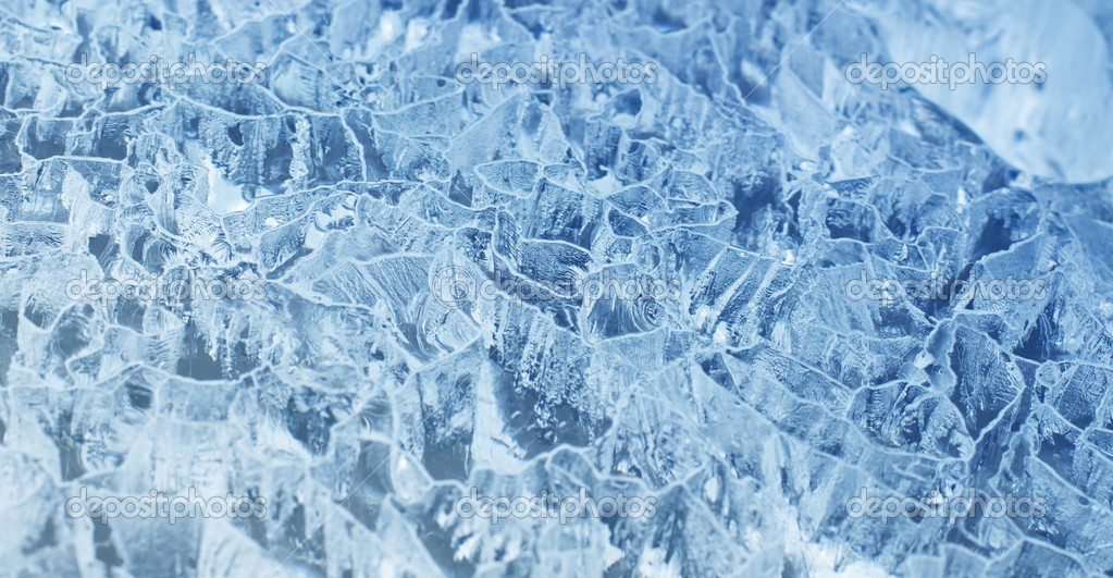 Fresh cool ice background or wallpaper for summer or winter