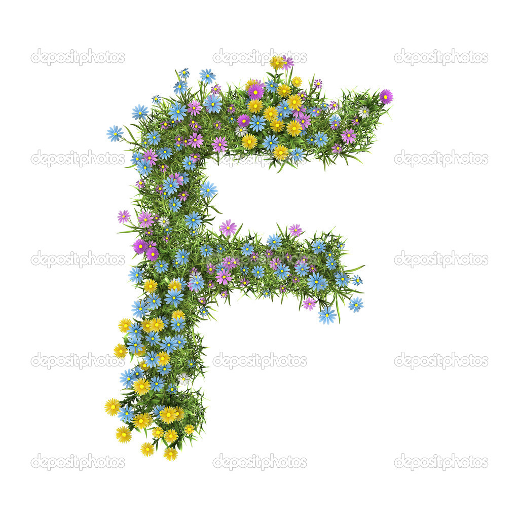 letter f flower alphabet isolated on white stock photo digiart 9363213. Black Bedroom Furniture Sets. Home Design Ideas