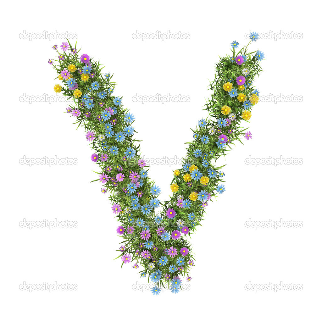 Letter v flower alphabet isolated on white stock photo letter v flower alphabet isolated on white stock photo altavistaventures Choice Image