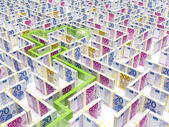 Fotografie Financial Maze Labyrinth whith path