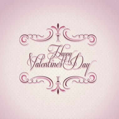 Valentine's day vintage background and greeting card