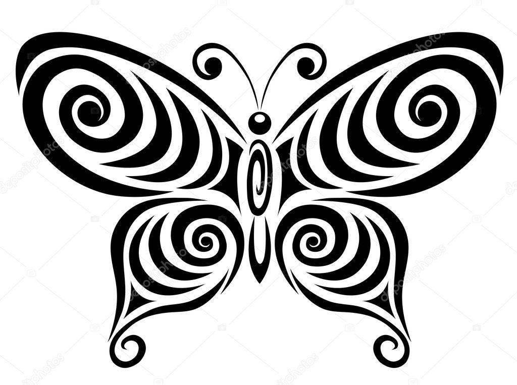 Ornamental butterfly 1.