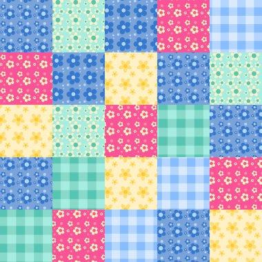 Seamless patchwork pattern 4.