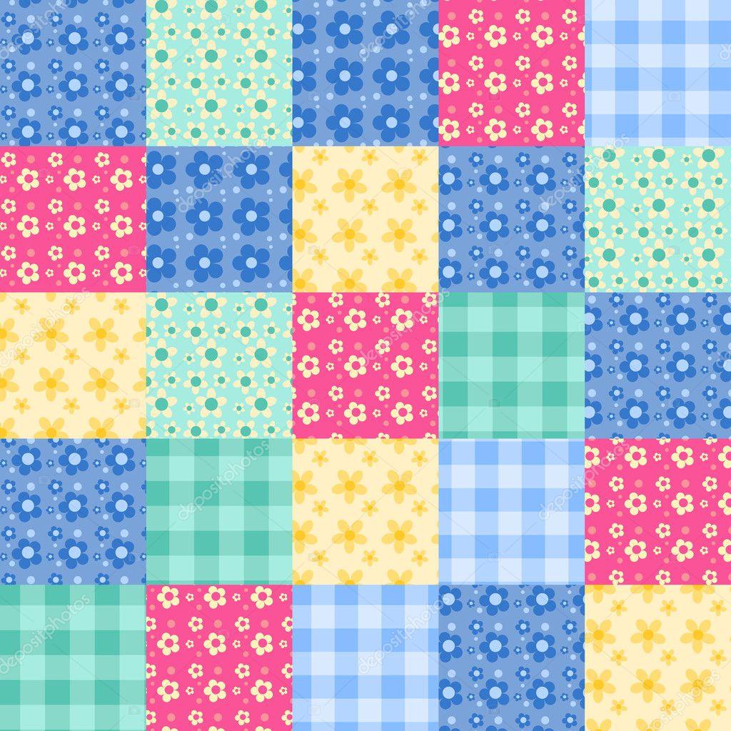 Seamless patchwork pattern 4. — Stock Vector © Amalga #8938336