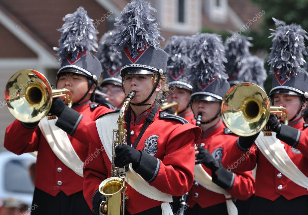 Richfield High School Marching Band Performing in a Parade