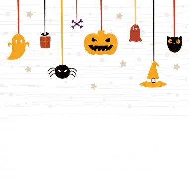 Stock Vector Illustration: Cute Halloween card