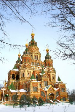 St. Peter and Paul's orthodox church in the Russian town of Peterhof near St. Petersburg