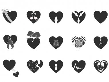 Black loving heart icon