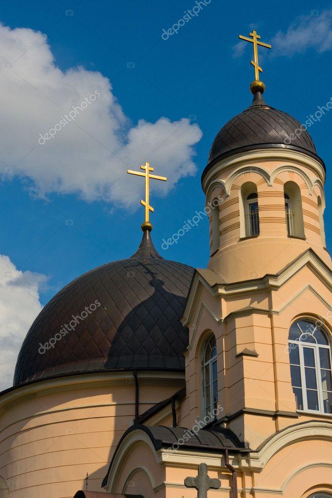 Guld Kors Pa Den Ortodoxa Kyrkan Stockfotografi C Ramvseb