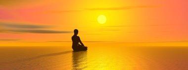 Meditation by sunset