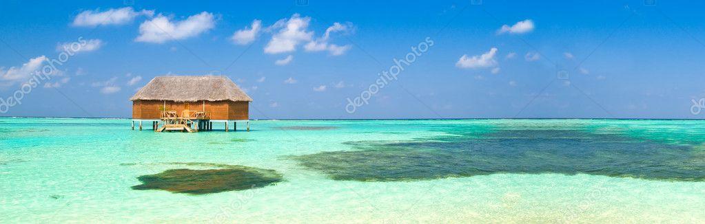 Honeymoon suite on the maldives