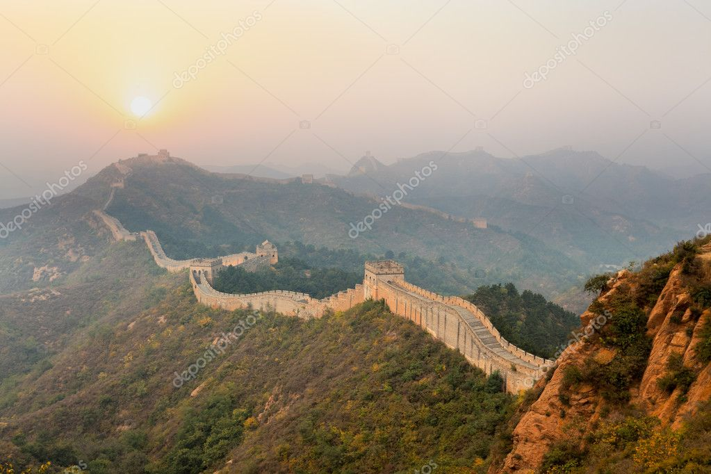 The great wall winding in ridge