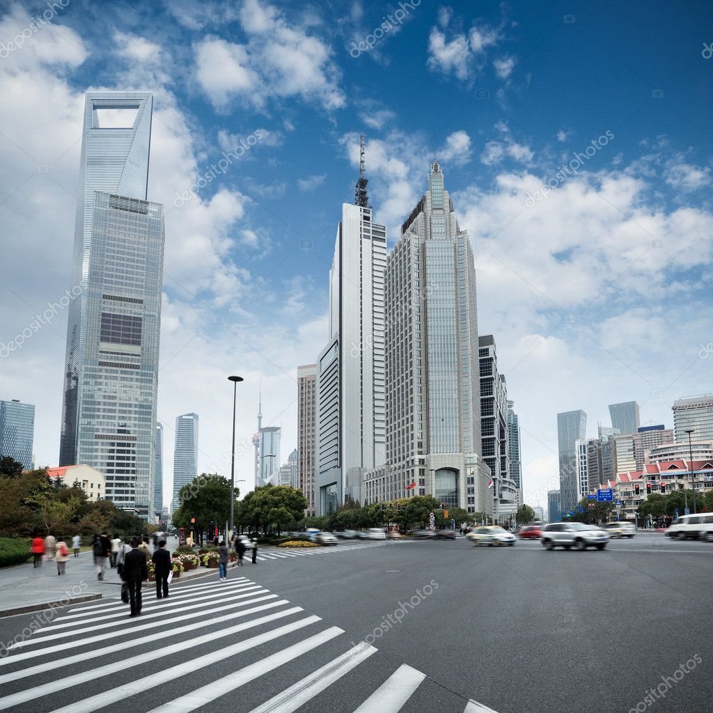The century avenue in shanghai