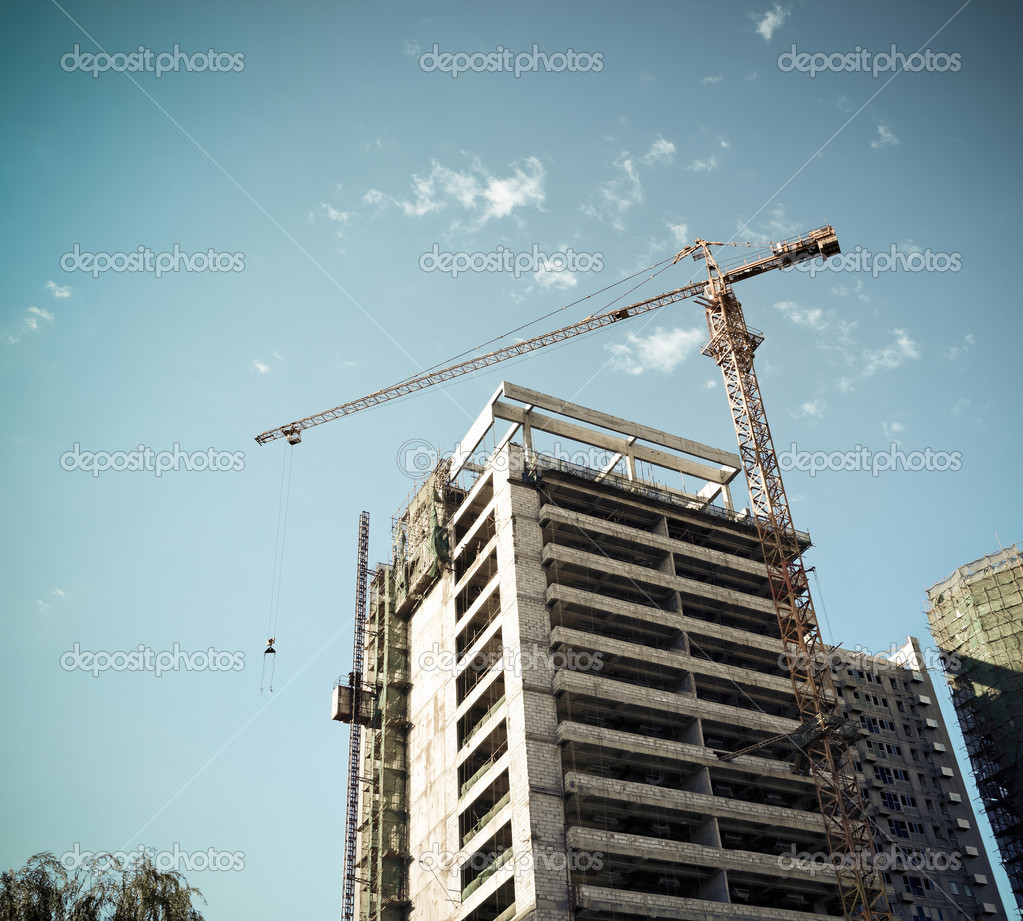 Crane on a construction site
