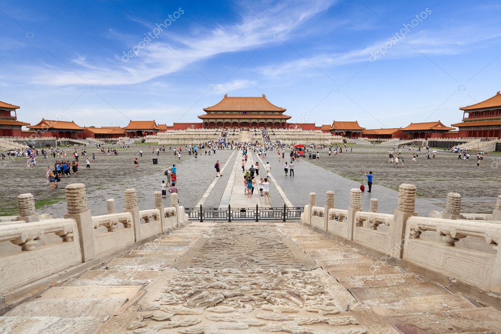 Tourists in the forbidden city