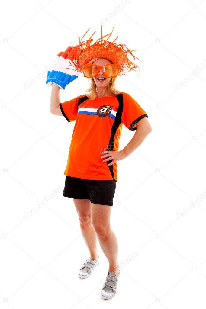 niederländische weibliche Fußball-suporter — Stockfoto © sannie32 ...