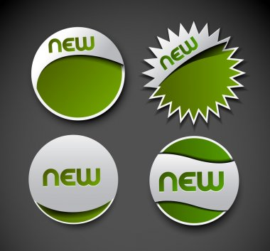 Design of advertisement labels stickers