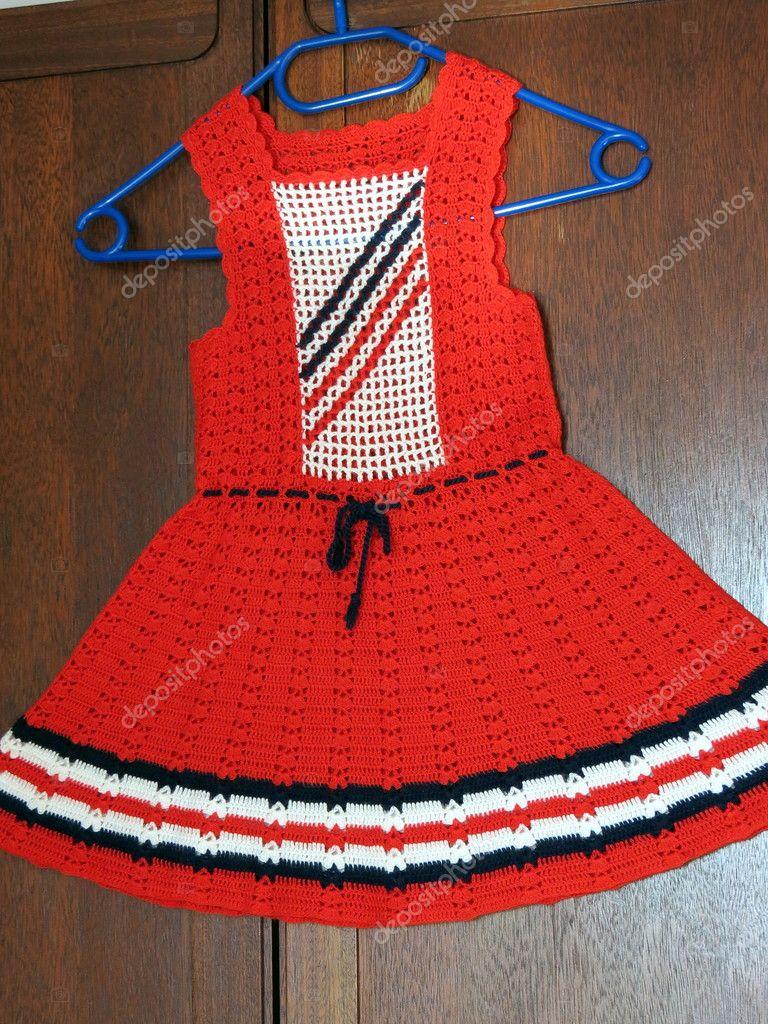 Mädchen Kleid Häkeln Stockfoto Andriuss 10415968