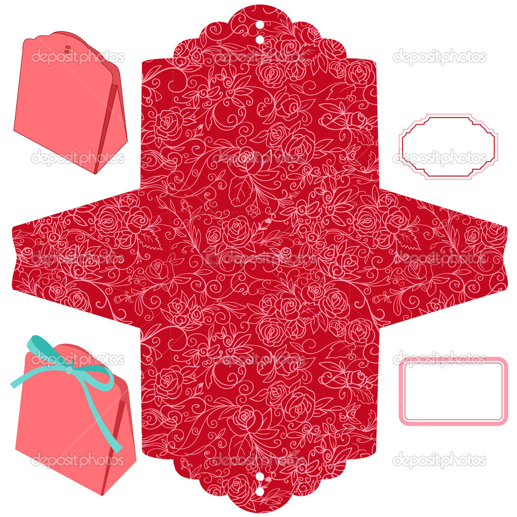 Gift box template