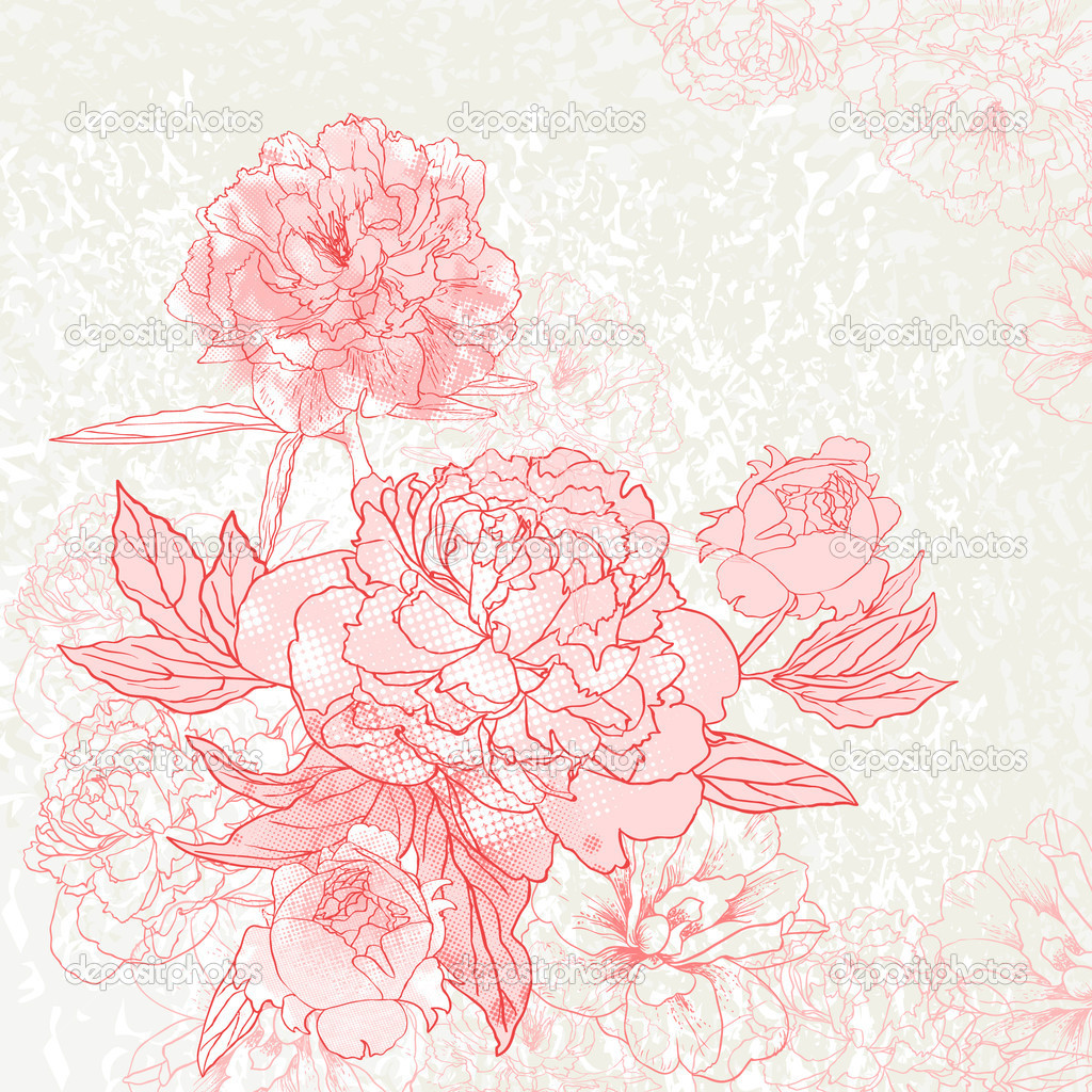 Peony background