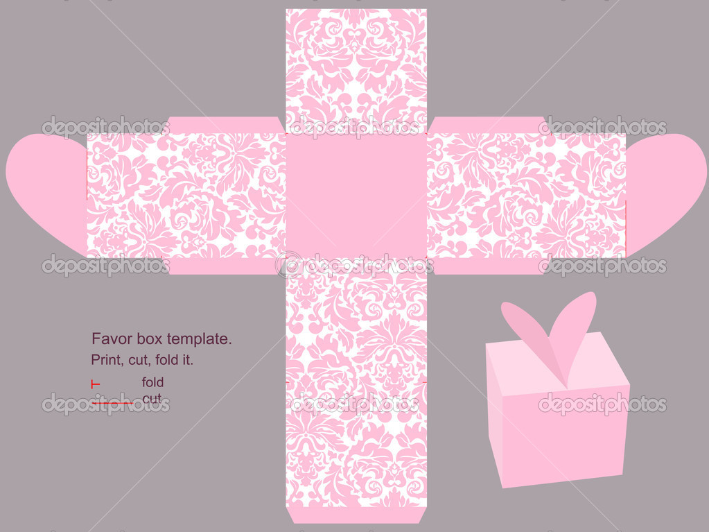 box template Vector 8205611 – Template for Gift Box
