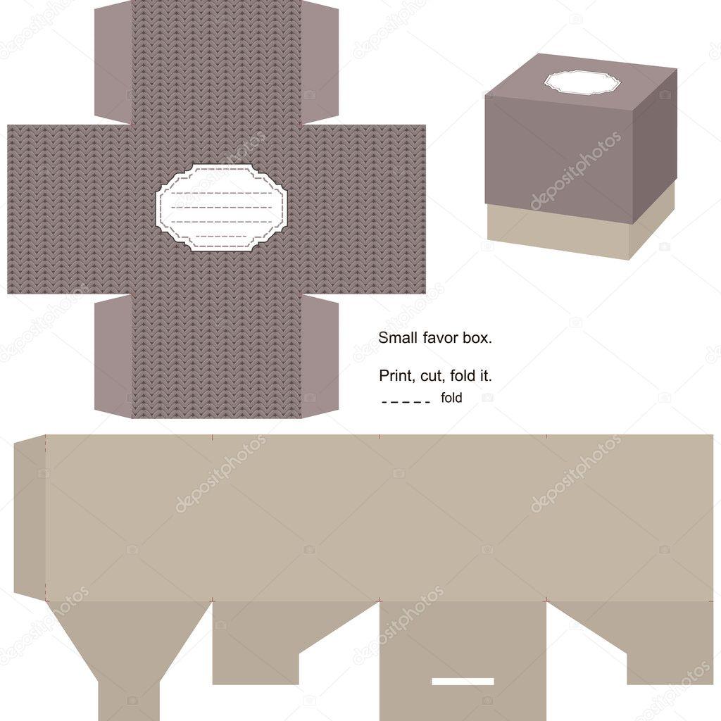 gift box template stock vector yaskii 8901225