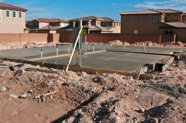 Foundation of a new luxury home
