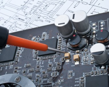 Repair a computer surface-mounted board