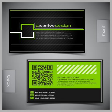 Vector set of creative business cards