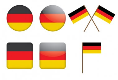 Badges with German flag