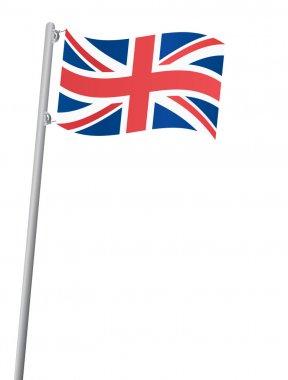 United Kingdom flag on a flagstaff