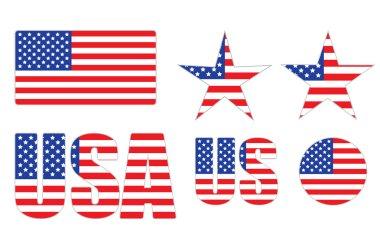 Badges made of United States flag